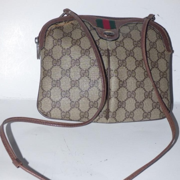 63b97a212 Gucci Bags | Vintage Brown Cross Body With Sherry Stripe | Poshmark